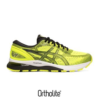 Asics GEL-NIMBUS 21 - Chaussures running Homme safety yellow/black