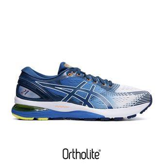 Asics GEL-NIMBUS 21 - Chaussures running Homme white/lake drive