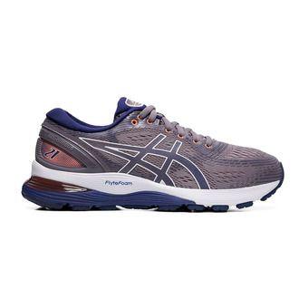 Asics GEL-NIMBUS 21 - Zapatillas de running mujer lavender grey/dive blue