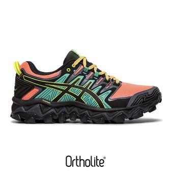 Asics GEL-FUJITRABUCO 7 - Zapatillas de trail mujer sun coral/black
