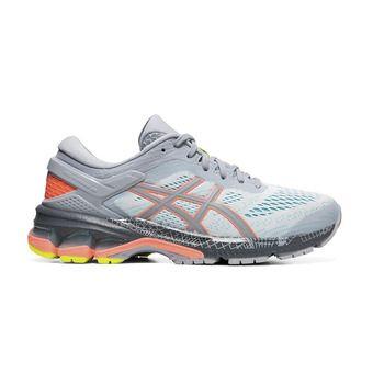 Asics GEL-KAYANO 26 LS - Zapatillas de running mujer piedmont grey/sun coral