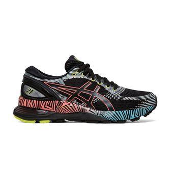 Asics GEL-NIMBUS 21 LS - Chaussures running Femme black/sun coral