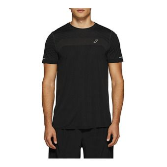 SEAMLESS SS TEXTURE PERFORMANCE BLACK Homme