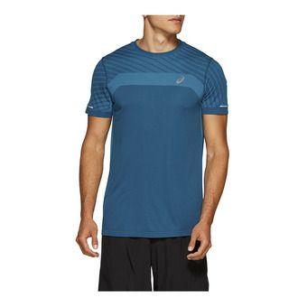 Asics SEAMLESS - Camiseta hombre deep saphire heather
