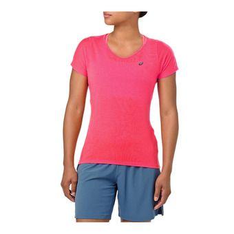 Asics V-NECK - Camiseta mujer laser pink