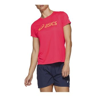 SILVER ASICS TOP LASER PINK / SUN CORAL Femme