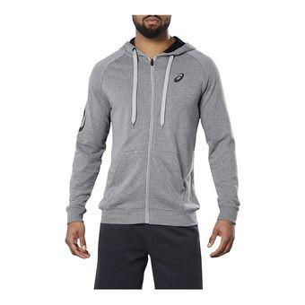 Asics BIG ASICS - Sweat Homme mid grey heather/dark grey