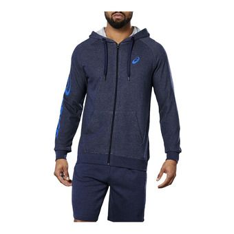BIG ASICS FZ HOODIE PEACOAT HEATHER/ASICS BLUE Homme