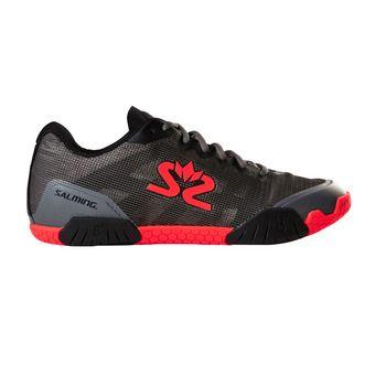 Salming HAWK - Zapatillas de balonmano hombre gunmetal/rojo