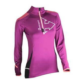 Raidlight WINTERTRAIL - Camiseta mujer  grenat