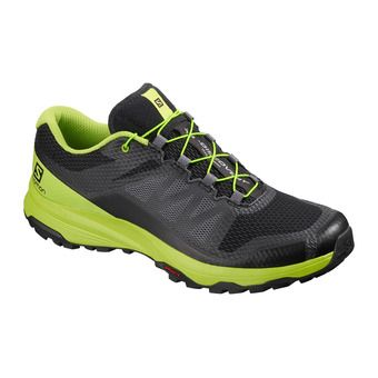 Salomon XA DISCOVERY - Chaussures trail Homme black/lime green/magnet