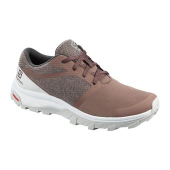Salomon OUTBOUND - Hiking Shoes - Women's - peppercorn/lunar rock/wht