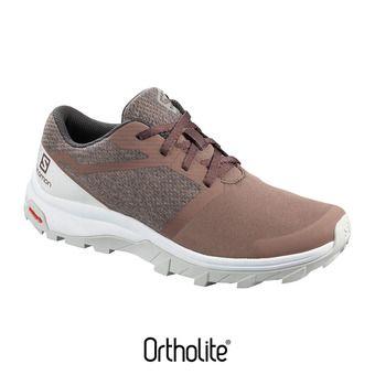 Salomon OUTBOUND - Hiking Shoes - Women's - peppercorn/lunar rock/wht