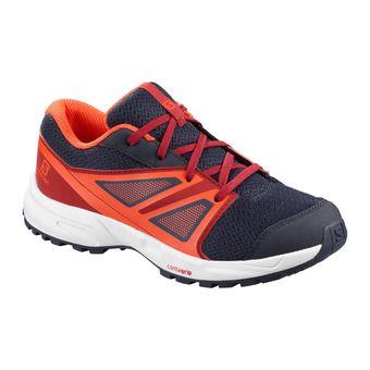 Salomon SENSE - Hiking Shoes - Junior - evening b/rd dahlia/cherry to