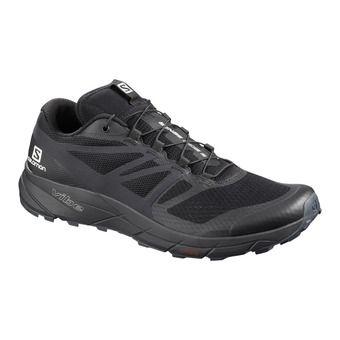 Salomon SENSE RIDE 2 - Chaussures trail Homme black/phantom/ebony