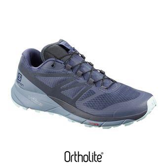 Salomon SENSE RIDE 2 - Zapatillas trail mujer crown blue/flint/icy morn