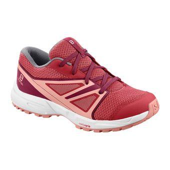 Salomon SENSE - Hiking Shoes - Junior garnet rose/beet red/coral almond