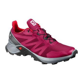 Salomon SUPERCROSS - Zapatillas de trail mujer cerise./pearl blue/fiery cor
