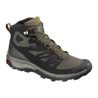 Salomon OUTLINE MID GTX - Chaussures randonnée Homme black/beluga/capers