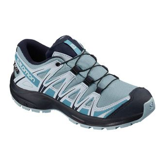 Salomon XA PRO 3D CSWP - Hiking Shoes - Junior cashmere blue/illusion blue/cyan blue