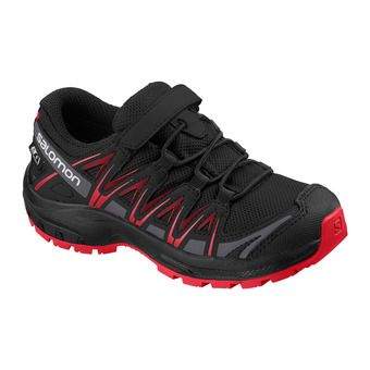 Salomon XA PRO 3D CSWP - Hiking Shoes - Junior black/black/high risk red