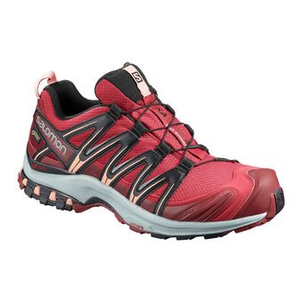 Salomon XA PRO 3D GTX - Trail Shoes - Women's - deep claret/syrah/coral almond
