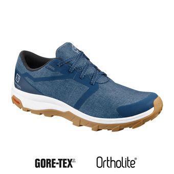 Salomon OUTBOUND GTX - Chaussures randonnée Homme poseidon/wht/gum1a
