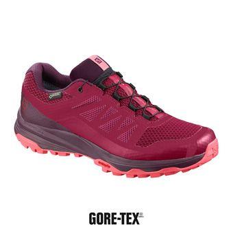 Salomon XA DISCOVERY GTX - Zapatillas de trail mujer beet red/potent purple/calypso coral