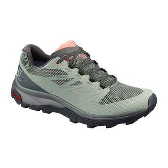 Salomon OUTLINE GTX - Hiking Shoes - Women's - shadow/urban chic/coral almond