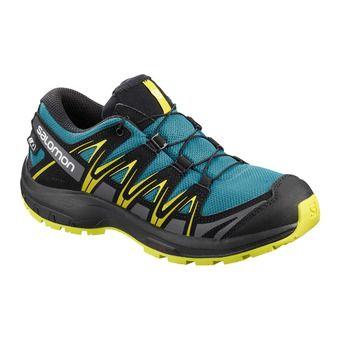 Salomon XA PRO 3D CSWP - Chaussures randonnée Junior lyons blue/black/sulphur spring