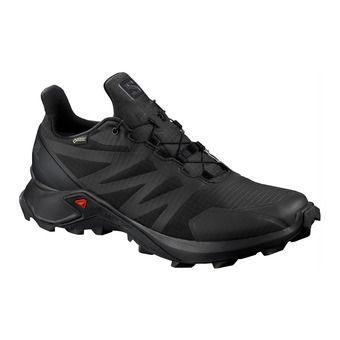 Salomon SUPERCROSS GTX - Trail Shoes - Men's - black/black/black