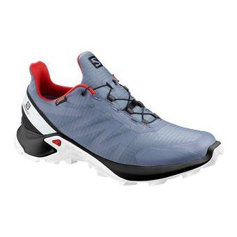 Salomon SUPERCROSS GTX - Trail Shoes - Men's - flint/black/high risk red