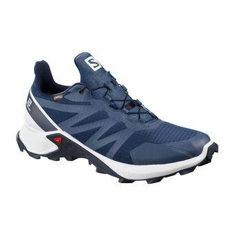 Salomon SUPERCROSS GTX - Trail Shoes - Men's - sargasso sea/wht/india ink