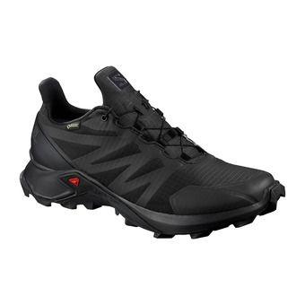 Salomon SUPERCROSS GTX - Trail Shoes - Women's - black/black/black