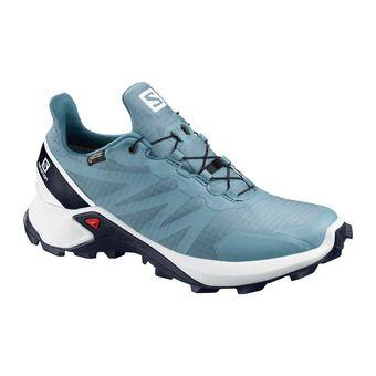 Salomon SUPERCROSS GTX - Trail Shoes - Women's - bluestone/wht/india ink