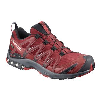Salomon XA PRO 3D GTX - Trail Shoes - Men's - syrah/ebony/rd dahlia
