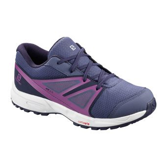 Salomon SENSE CSWP - Chaussures randonnée Junior crown blue/evening b/sparkling grape