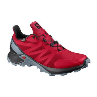 Salomon SUPERCROSS GTX - Trail Shoes - Men's - barbados cherry/black/flint