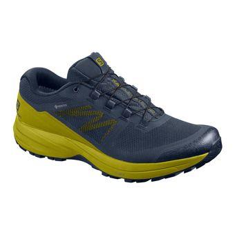 Salomon XA ELEVATE 2 GTX - Trail Shoes - Men's - navy blazer/navy blazer/citronella