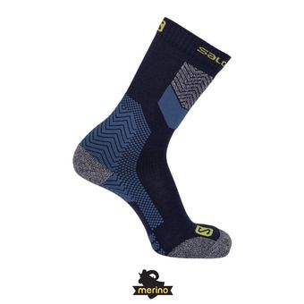 Salomon OUTPATH WOOL - Calcetines poseidon/saffron