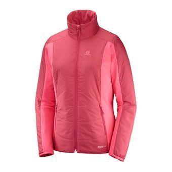 Salomon DRIFTER MID - Hybrid Jacket - Women's - garnet pink/calypso coral
