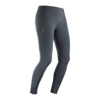 Salomon COMET TECH LEG - Tights - Women's - black/ebony/heather