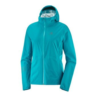 Salomon LIGHTNING WP - Chaqueta mujer tile blue