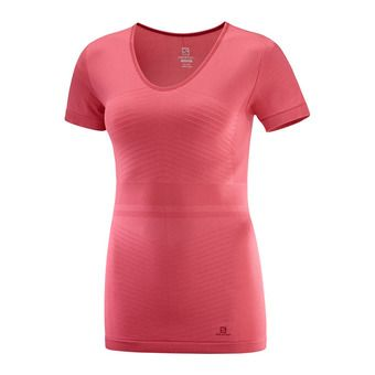 Salomon ELEVATE MOVE'ON - Sous-couche Femme garnet rose