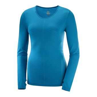 ELEVATE MOVEON LS T solid-LYON Femme Lyons Blue