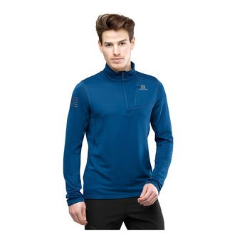 Salomon GRID FZ - Sweat Homme poseidon
