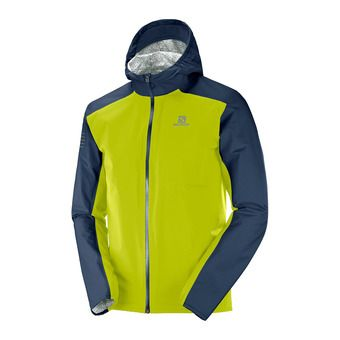 Salomon BONATTI WP - Chaqueta hombre night sky/citronell