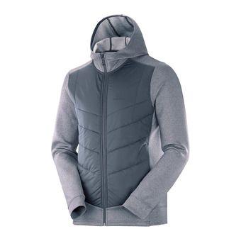 Salomon PULSE HYBRID - Hybrid Jacket - Men's - ebony