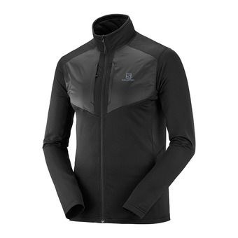 Salomon GRID FZ - Fleece - Men's - black