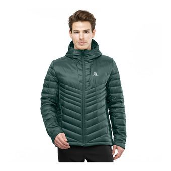 Salomon HALOES DOWN - Down Jacket - Men's - green gab